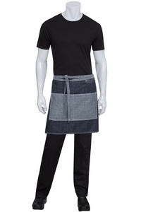 Manhattan Indigio Blue Denim Half Bistro Apron