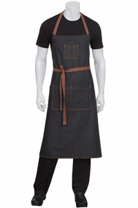 Memphis Black Denim Adjustable Bib Apron