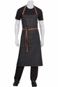 Memphis Black Denim Adjustable Chef's Bib Apron