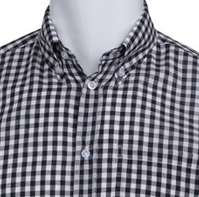 Men's Black and White Check | Gingham Shirt