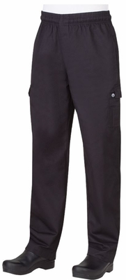 Men's Black Cargo Pants Slimmer Fit