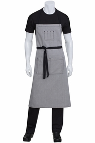 Portland Black Denim Chef's Bib Apron