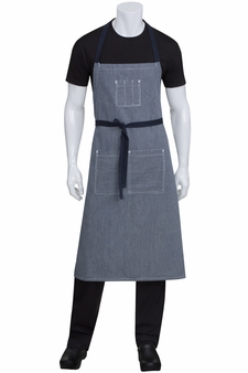 Portland Blue Denim Chef's Bib Apron