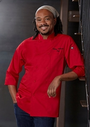MOROCCO Red 3/4 Sleeve Lightweight Chef Jacket