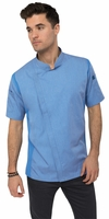SPRINGFIELD Sky Blue Short Sleeve Chef Coat