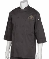 The PASI Cooking Black Chef Coat