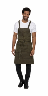 WARREN Maize Brown Canvas Bib Apron