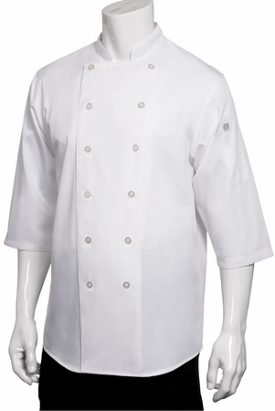 LISBON White CHEF SHIRT