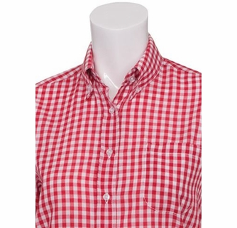 Women S Red And White Check Gingham Shirt