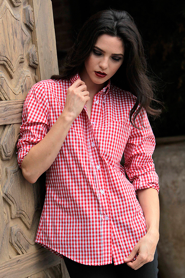 Red Gingham Shirt Women