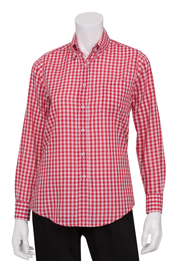 women 39 s red and white check gingham shirt