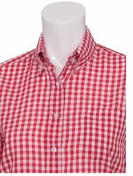 Women's Red and White Check | Gingham Shirt