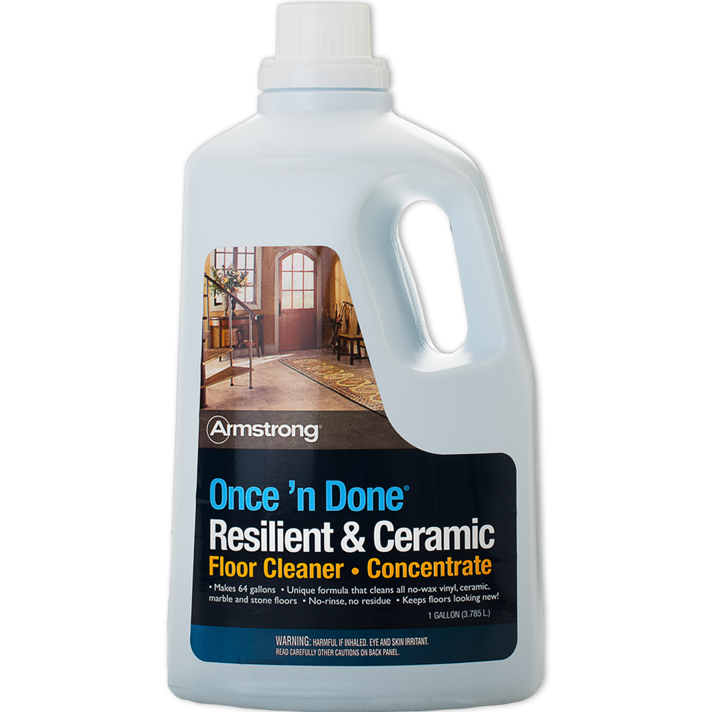 Armstrong Once N Done No Rinse Floor Cleaner Concentrate 128 Oz