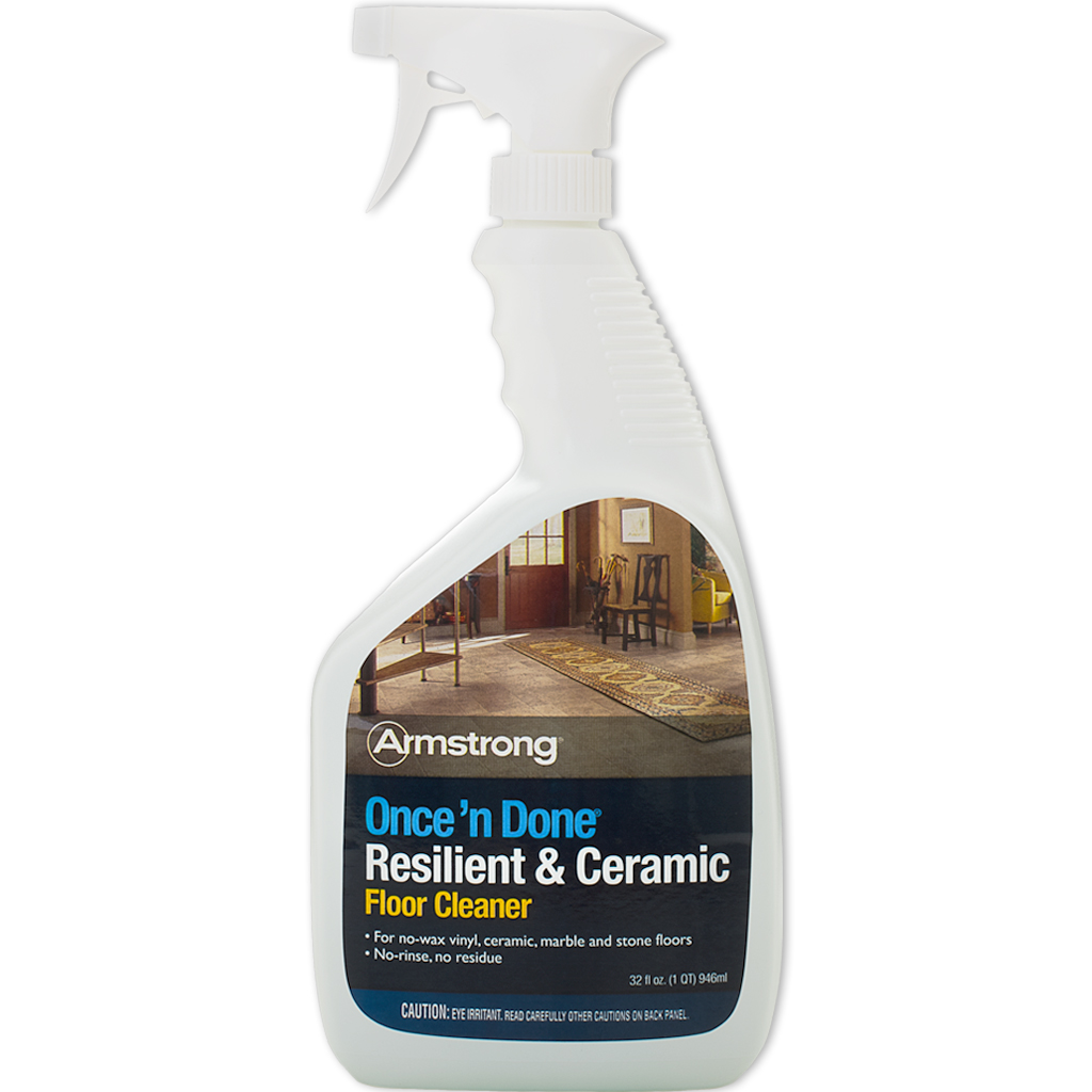 Armstrong Once N Done Resilient Ceramic Floor Cleaner 32 Oz Spray S 309