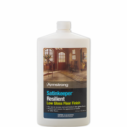 Armstrong SATINKEEPER Resilient Low Gloss Floor Finish, 32-oz