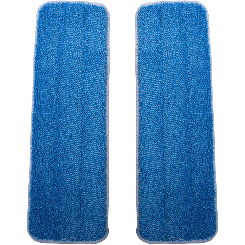 Basic Squeaky Replacement Microfiber Mop Pads 2 Pack