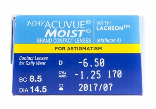 Acuvue 1 Day Moist For Astigmatism 30 Pk