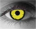 Angelic Yellow  RX Theatrical Contact Lenses