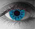 Blue Snowflake Theatrical Contact Lenses