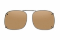 Cocoons L208 Clip-Ons Square Sunglasses