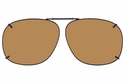 Cocoons L329 Clip-Ons Square Sunglasses