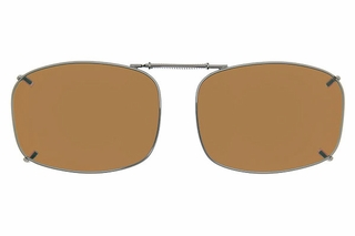 Cocoons L4168 Clip-Ons Rectangle Sunglasses