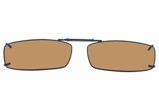Cocoons L4198 Clip-Ons Rectangle Sunglasses