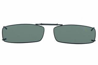 Cocoons L4199 Clip-Ons Rectangle Sunglasses