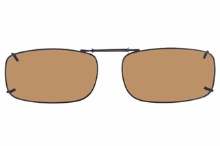 Cocoons L4218 Clip-Ons Rectangle Sunglasses