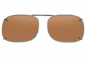 Cocoons L4228 Clip-Ons Rectangle Sunglasses