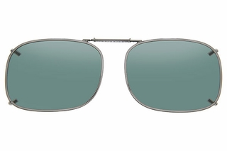 Cocoons L4229 Clip-Ons Rectangle Sunglasses