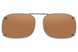 Cocoons L4238 Clip-Ons Rectangle Sunglasses