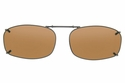 Cocoons L4248 Clip-Ons Rectangle Sunglasses