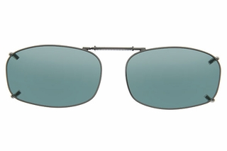 Cocoons L4249 Clip-Ons Rectangle Sunglasses