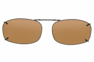 Cocoons L4258 Clip-Ons Rectangle Sunglasses