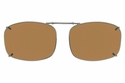 Cocoons L4269 Clip-Ons Rectangle Sunglasses