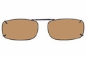 Cocoons L4278 Clip-Ons Rectangle Sunglasses