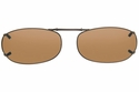 Cocoons L458 Clip-Ons Rectangle Sunglasses
