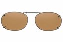 Cocoons L489 Clip-Ons Rectangle Sunglasses