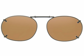 Cocoons L498 Clip-Ons Rectangle Sunglasses