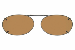 Cocoons L628 Clip-Ons Oval Sunglasses