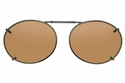 Cocoons L639 Clip-Ons Oval Sunglasses