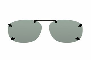 Cocoons LR2338 Rimless Clip-Ons Square Sunglasses