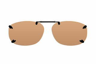 Cocoons LR2339 Rimless Clip-Ons Square Sunglasses