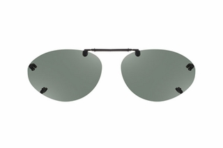 Cocoons LR2638 Rimless Clip-Ons Oval Sunglasses