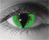 Green Reptile Theatrical Contact Lenses