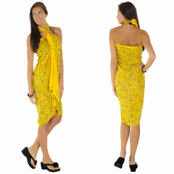 Abstract Sarong in Yellow