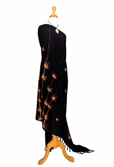 Bamboo Top Quality Sarong in Black