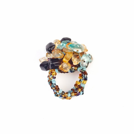 Beaded Ring in Mixed