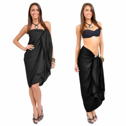 Black Embroidered Sarong